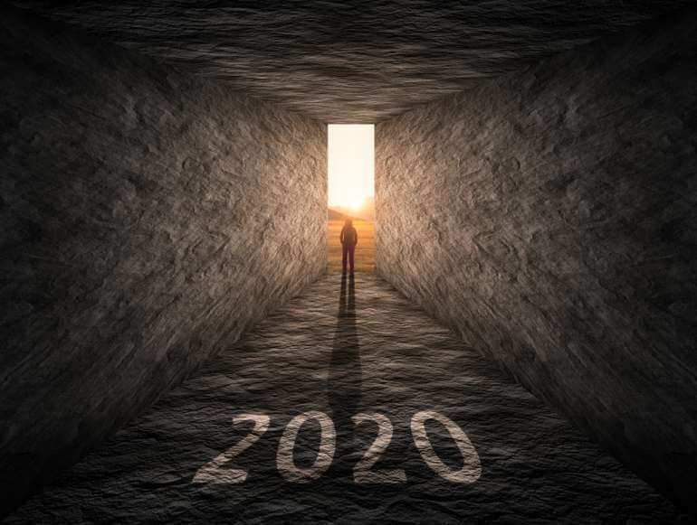 The year 2020 and a light at the end of a tunnel