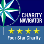 charity navigator logo care and give back